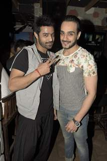 Angad Hasija and Giriraj Kabra at Rohit Verma's Birthday Bash