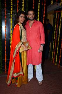 Karan Patel and Ankita at Ekta Kapoor's Diwali Bash