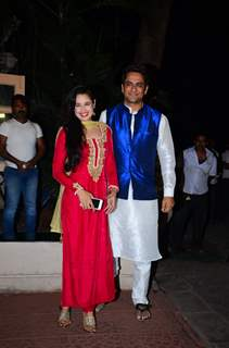 Vikas Gupta and Yuvika Chaudhary at Ekta Kapoor's Diwali Bash