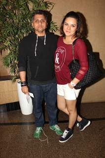 Udita Goswami and Mohit Siuri at Premiere of Play 'Double Trouble'