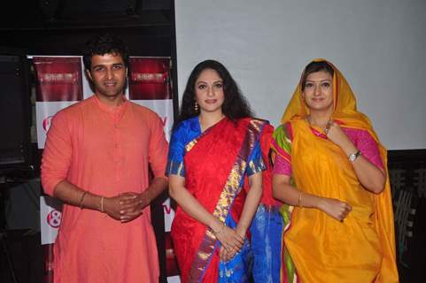 Juhi, Sachin and Gracy at Launch of &TV 's New Show 'Santoshi Maa'