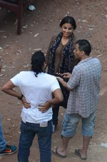 Vidya Balan and Sujoy Ghosh Shoots in Kolkata