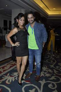 Saillesh Gulabani with wife Ashita at Saas Bahu Aur Saazish Anniversary