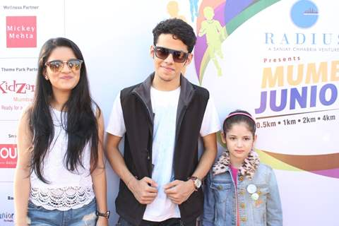 Avneet Kaur, Darsheel Safary and Harshaali Malhotra at Mumbai Juniorthon