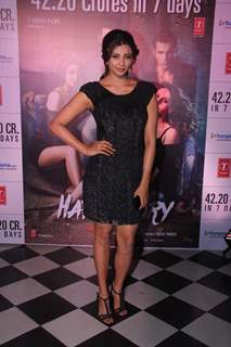 Daisy Shah poses for the media at the Success Bash of Hate Story 3