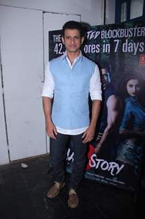 Sharman Joshi poses for the media at the Success Bash of Hate Story 3
