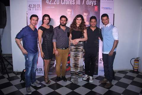 Team poses for the media at the Success Bash of Hate Story 3