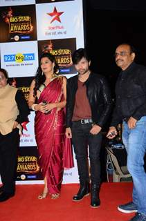 Himesh Reshammiya and Sonia Kapoor at Big Star Entertainment Awards