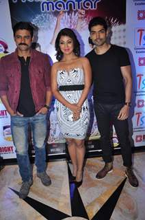 Manav Gohil, Gurmeet Choudhary and Debina Bonerjee at Launch of New Music Album 'Naina Mare Mantar'