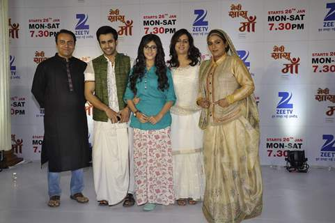 Cast of Zee TV's New Show 'Meri Sasu Maa' at the Launch