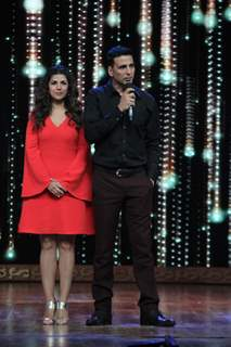 Akshay Kumar, Nimrat Kaur for Promotions of Airlift on India's Best Dramebaaz 2