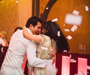 Beauty Asin & Micromax Founder Rahul Sharma at Their Wedding Reception Pictures