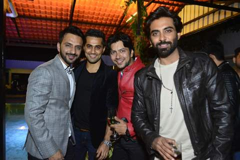 Ali Merchant With Vishal Karwal and Rohit Khuranna at Cocktail Party post Wedding