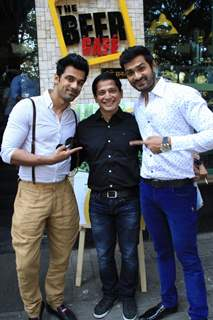Anuj Sachdeva, Mrunal Jain and Vinod Singh at Launch of 'The Beer Cafe'