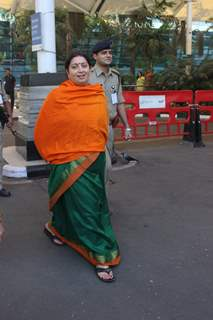 Smriti Irani Snapped at Airport