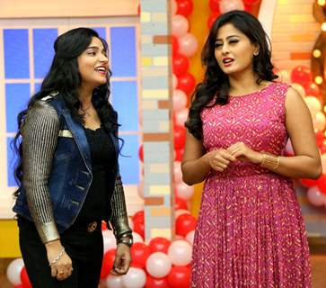 Swati Sharma and Nidhi Subbaiah at Promotions of 'Direct Ishq' on Comedy Classes