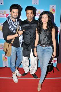 Raqesh Vashisht and Riddhi Dogra With Anuj at Special Screening of 'Love Shagun'