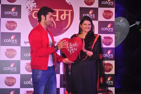 Candid moments from the Launch of Colors' New Show 'Kasam Tere Pyaar Ki'