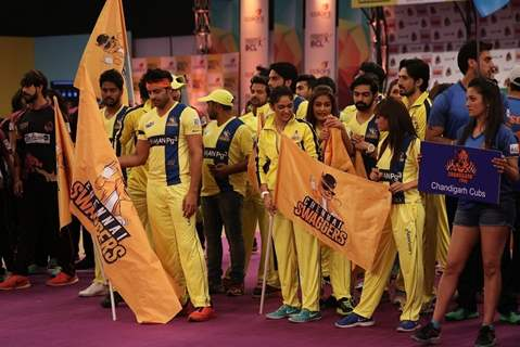 Chennai Swaggers Team at BCL Parade Ceremony