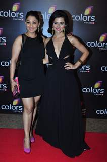 Ridhi Dogra Vashisth with Shruti Ulfat at Colors TV's Red Carpet Event