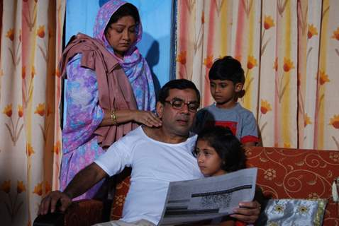 Paresh Rawal with his wife and children