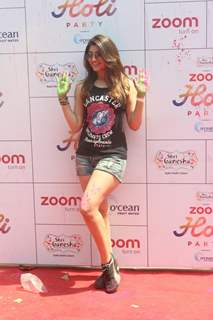 Akanksha Puri at Zoom Holi Party