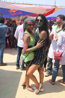 Nia Sharma and Amrin Chakkiwala at BCL's Holi Celebrations
