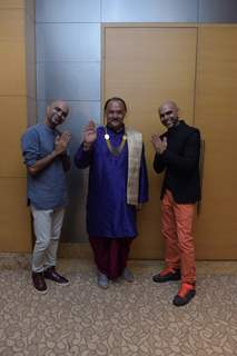 Alok Nath with Raghu and Rajiv  at Launch of Viacom18's 'Voot'