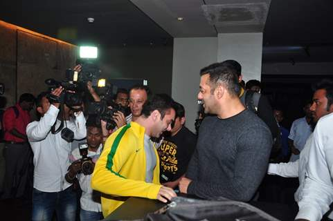 Salman Khan with Sohail Khan at Special Screening of 'The Jungle Book'
