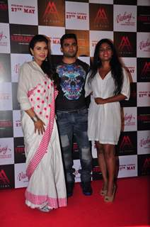 Sachin Joshi, Lisa Ray and Usha Jadhav at Press Meet of Veerappan
