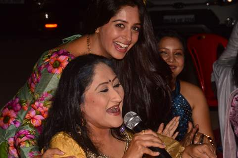 Dipika Kakar and Jayati Bhatia at Saasural Simar Ka 5th Anniversary Celebrations