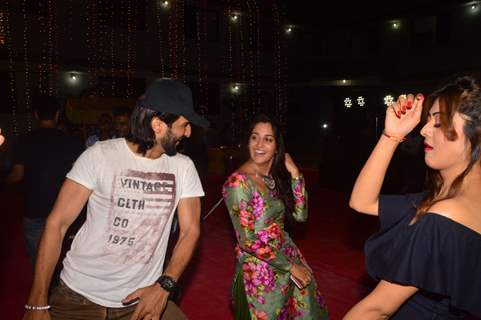 Manish Raisinghan and Dipika Kakar at  Saasural Simar Ka 5th Anniversary Celebrations