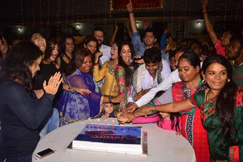 Dipika Kakar, Manish Raisinghan and Jayati Bhatia at Saasural Simar Ka 5th Anniversary Celebrations