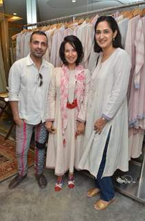 Mayank Anand and Shraddha Nigam at Abu Jani Sandeep Khosla's Fantastique store launch