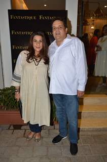 Amrita Singh with Sandeep Khosla at Fantastique store launch