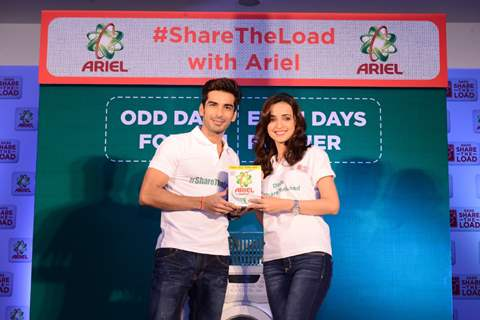 Sanaya Irani and Mohit Sehgal at Promotions of 'Ariel'