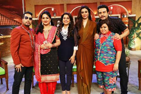 Juhi Chawla and Tabu have a blast on the sets of 'Comedy Nights Live'