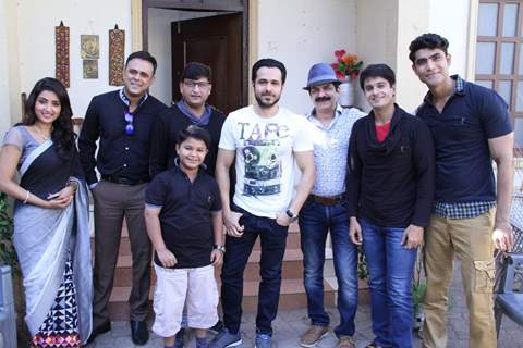 Emraan Hashmi on the sets on 'Badi Door Se Aaye Hai' for Promotions of 'Azhar'