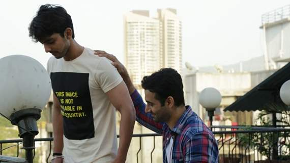 Himansh Kohli with Freddy Daruwala