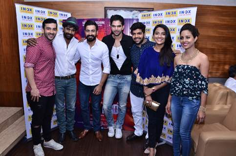 Hariharan with Dishank Arora and Jyoti Sethi visits Inox Malad