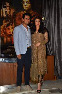 Randeep Hooda & Aishwarya Rai Bachchan at Success Party of 'Sarabjit'