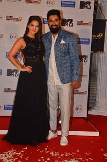 Rannvijay Singh and Sunny Leone at Launch of 'MTV  'Splits Villa Season 9'