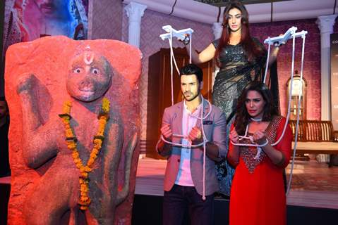 Mahek Chahal, Vivek Dahiya and Mona Singh at Colors TV's New Show Launch 'Kavach'