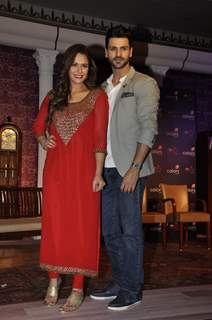 Vivek Dahiya and Mona Singh at Colors TV's New Show 'Kavach'