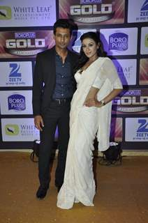 Indraneil and Barkha Bisht Sengupta at Zee Gold Awards 2016