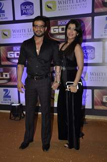 Karan Patel and Ankita Bhargava at Zee Gold Awards 2016