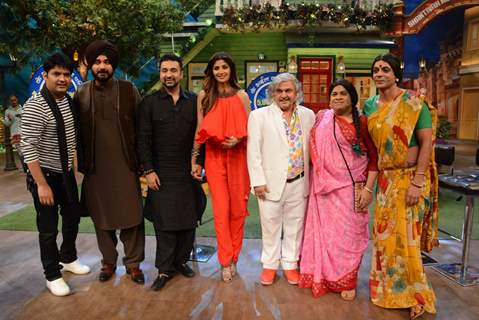 Shilpa Shetty, Shamita Shetty & Raj Kundra on The Kapil Sharma Show