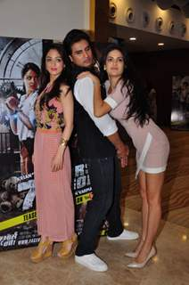 Sandeepa Dhar, Shiv Pandit and Natasa Stankovic at Promotion of film '7 Hours to go'