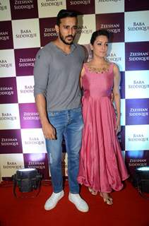 Rohit Reddy and Anita Hassanandani at Baba Siddique's Iftaar Party 2016
