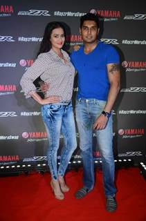 Actress Jaswir Kaur with Husband Vishal Madlani at Singer Badhshah at Yamaha Event